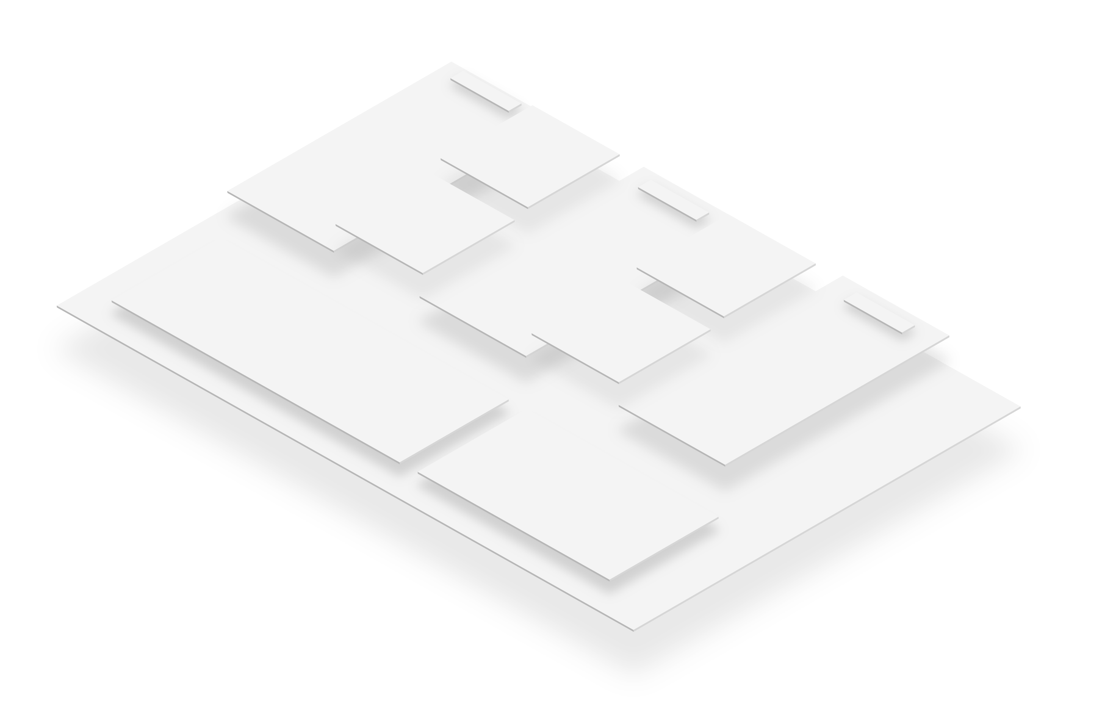 abstract white business model canvas